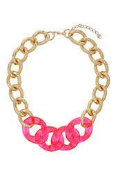 Part Colour Chain Necklace