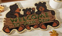Bear Den Northwoods Home Coco Mat