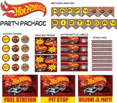 Hot Wheels Party PackageINSTANT DOWNLOAD by TrulyMarvelous on Etsy, $10.99