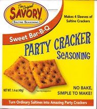 The Original Savory Saltine Cracker Seasoning Sweet Bar-B-Q Flavor. This is the newest flavor and it is a winner.  Sweet bbq with a slight kick.