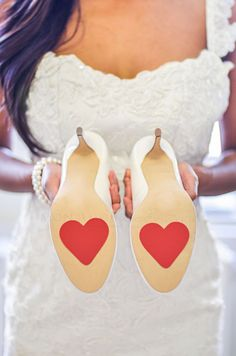 Wedding Shoes with adorable hint of sweetness - Heart Petal Grip Pads