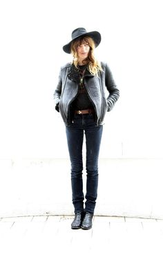 Lou Doillon#leather...
