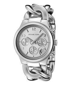 Look what I found on #zulily! Stainless Steel Runway Twist Chronograph Watch by Michael Kors #zulilyfinds