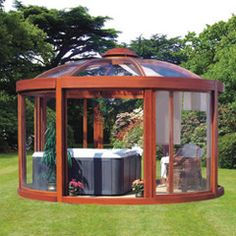 Best part of a house is backyard. Add gazebo, pergola and/or wooden cottage in your backyard. See our post on Lovely Backyard Gazebos With Original Design. Backyard Pavilion, Backyard Gazebo, Backyard Landscaping, Backyard Ideas, Cozy Backyard, Gazebo Ideas, Patio Ideas, Gazebo Plans, Boat Plans