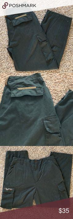 Vintage Vans Cargo Pants Size Large Vintage  Vans Boarding Apparel Cargo Pants  Size Large Waist: 34 Inseam: 34  Dark Green  Brand New, Never Worn or Used ⚡️WILL SHIP IN ONE DAY⚡️All bundles of 2 or more receive 20% off. Closet full of new, used and vintage Vans, Skate and surf companies, jewelry, phone cases, shoes and more. Vans Pants Cargo