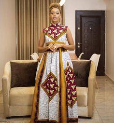 Ankara long gown style 2020 Long Ankara Dresses, Ankara Maxi Dress, Ankara Long Gown Styles, African Prom Dresses, African Wedding Dress, Latest African Fashion Dresses, Ankara Gowns, African Print Fashion, Ankara Styles