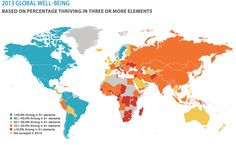 2013 global well-being - The happiest countries are in the America's and Skandinetherlands