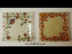 Cómo hacer bandejas cuadradas con decoupage - YouTube Decoupage Plates, Decoupage Furniture, Stencil, Origami, Pottery Designs, Glass Blocks, Diy Projects To Try, Diy And Crafts, Art Deco