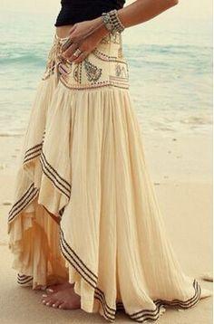 Elegent Patchwork Asymmetrical Casual Lace Skirt