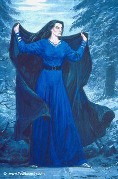 Lúthien Reveals Herself to Celegorm ~ Ted Nasmith.