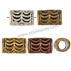 Zinc Alloy Tube Beads,Plated,Cadmium And Lead Free,Various Color For Choice,Approx 6*10mm,Hole:Approx 4mm,Sold By Bags,No 001895