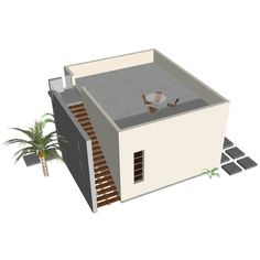 Medium size of guest houses designs small house prefab love the flat roof with stairs pool Guest House Plans, Modern House Plans, Small House Plans, House Floor Plans, Backyard Guest Houses, Backyard House, Prefab Buildings, Building A Container Home, Cool Apartments