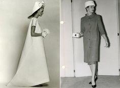 Balenciaga-Vintage: Vestido de noiva criado em 1968 e silhueta de 1956 ©Reprodução