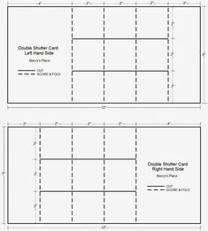 Beccy's Place: Tutorial: Double Shutter Card (aka Double Display Card) - different version