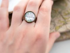 Personalized Ring Custom Map Ring Made To Order Long Distance