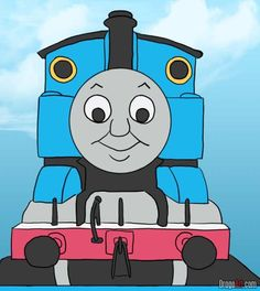 How to Draw Thomas the Tank Engine, Step by Step, Pbs Characters ...