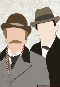 Sherlock and their Watsons...it's a little eerie how you can instantly tell that's Jeremy Brett.