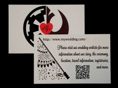 elegent star wars save the dates
