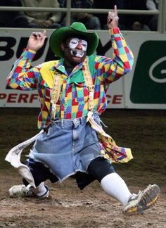 Leon Coffee was selected for the National Finals Rodeo in four different decades. Rodeo Cowboys, Black Cowboys, Real Cowboys, Cowboy Horse, Cowboy And Cowgirl, Clown Photos, Rodeo Outfits, Clown Outfits, Bucking Bulls