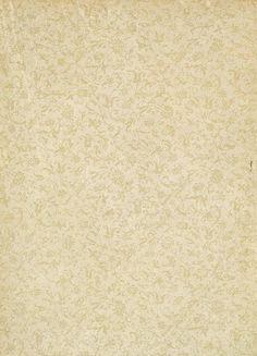 un papier aux délicats tons crème et motif fleuri...