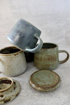 Rustic Mugs, Rustic Cafe, Modern Rustic, Ceramic Coffee Cups, Stoneware Mugs, Ceramic Mugs, Mugs Set, Tea Mugs, Coffee Mugs