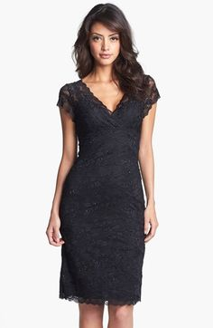 Marina Tiered Lace Dress (Regular & Petite) Wore this in gunmetal for MOB dress.