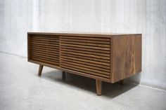48 Solid Black Walnut Credenza/ Sideboard/ by solidwoodlimited