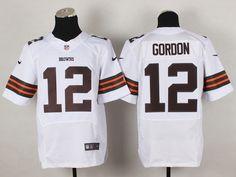 Cleveland Browns 12 Josh Gordon White Elite NFL Jerseys.