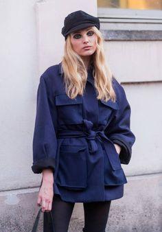 Model Elsa Hosk outside Alberta Ferretti on February 22 2017 in Milan Italy