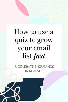 Using a quiz to grow your email list fast (using Interact quiz builder) | Ashley Srokosz | Nutrition business Email Marketing Strategy, Content Marketing, Online Marketing, Business Marketing, Email List, Business Tips, Green Business, Business Names, Social Media Tips