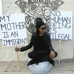 Stand up in whatever way you can. Never underestimate your ability to create change. Even if it's just 1 person you've inspired, its enough because that person will in turn inspire another. Be... breath... fight for the change you want to see in this world.   #adaywithoutimmigrants #adaywithoutimmigrants2017 #weareallimmigrants #nohumanbeingisillegal #humanity #humanrace #onerace #onepeople #wethepeople #love #compassion #peace #standup