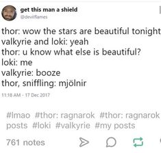 Mjolnir /was/ beautiful  I'M SORRY