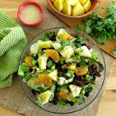 Caribbean Salad with Honey Lime Dressing - The Dinner-Mom