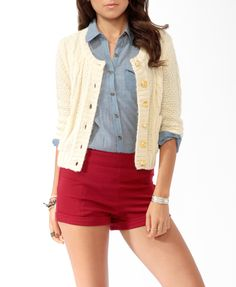 Cable Knit Cardigan | FOREVER21 - 2000025864 | Small/Medium