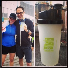 Our protein shakers were given out at a 5K run/walk this weekend.