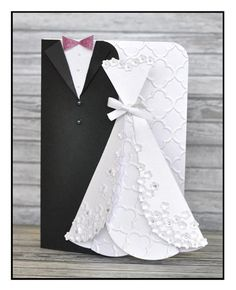 Sizzix.co.uk - Blogs - Pete Hughes - Bride and Groom card complete with a step by step tutorial.