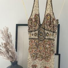 Beautiful beaded halterneck cocktail dress from Aftershock. Maybe worn twice, bottom of zip is coming loose but can be replaced (the lining is silk so havent replaced it myself) Save The Planet, Selling Online, Second Hand Clothes, Silk, Unique, Stuff To Buy, Beautiful, Women, Fashion