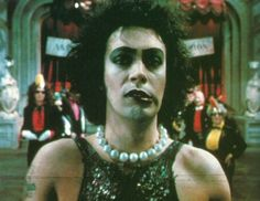 Tim Curry ♥ Rocky Horror Picture Show Rocky Horror Show, The Rocky Horror Picture Show, Raul Julia, Tv Movie, Fright Night, Dream Baby, Time Warp, Comic, Cinematography