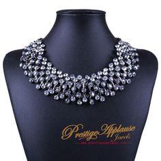 A handmade Diamante Necklace #prestigeapplause #prestige #diamante #necklaceoftheday #bespoke #girlbestfriend #handmade #crystal www.prestigeapplause.com