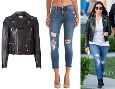 Mid rise cropped jeans
