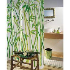 Dieser Duschvorhang mit Bambushölzern entführt Sie in den Regenwald!