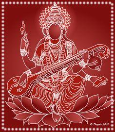 Goddess Sarasvati - Goddess of Art http://www.pinterest.com/habdulila/shakti/