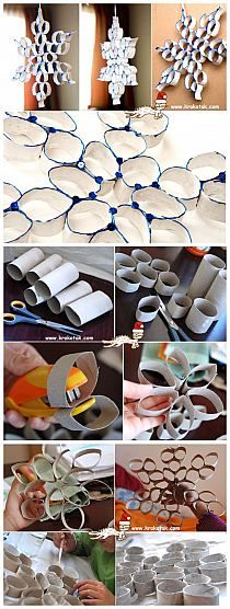 Toilet paper and paper towel rolls! Toilet Paper Roll Art, Toilet Paper Roll Crafts, Noel Christmas, All Things Christmas, Christmas Ornaments, Diy And Crafts, Crafts For Kids, Theme Noel, Paper Crafting