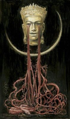 The King of the Golden Mask  By Santiago Caruso