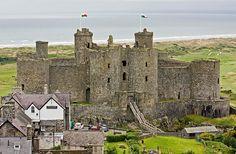 Harlech Castle Wales by Jelle Drok