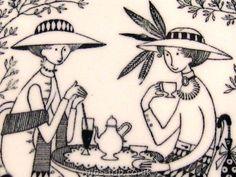 Arabia Emilia in Pottery, Porcelain & Glass Finland, Scandinavian, Porcelain, Pottery, Plates, Range, Retro, Board, Design