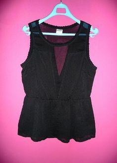 Kup mój przedmiot na #vintedpl http://www.vinted.pl/damska-odziez/bluzki-bez-rekawow/10891843-vero-moda-m-38-elegancka-czarna-bluzka-z-baskinka-przeswitujaca-seksowna-na-impreze-do-klubu