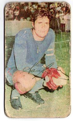 Figurita Tarjeton Futbol 1971 Miguel Angel Santoro #82 Independiente de Avellaneda