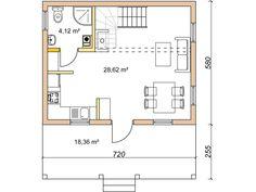 Dom drewniany LIBEREC I - Filian Domy Drewniane Tiny House Plans, Floor Plans, How To Plan, Houses, Small House Plans, Small Home Plans, Floor Plan Drawing, House Floor Plans