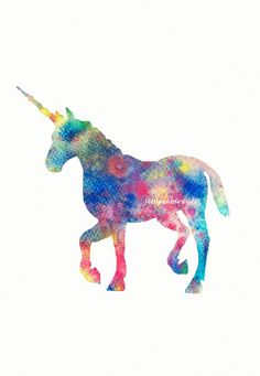 Colorful Happy Rainbow Unicorn, Art Print, Watercolor Painting  Watercolor Print on Etsy, $12.50 AUD